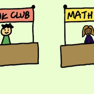 Book and Math clubs are among the many club options a lot of colleges offer