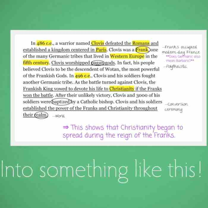 What an annotated paragraph might look like