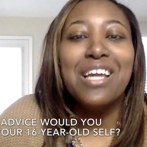 Kim gives some advice to her 16-year-old self.