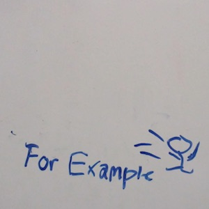 A stickman drawn on a whiteboard to demonstrate what personification is