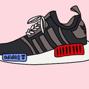 Cartoon grey Adidas shoe