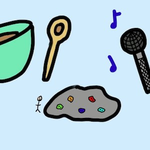 Baking, games, and singing are examples of some hobbies